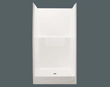Shower Units on mobile home toilet, mobile home refrigerator, mobile home covered patio, mobile home tile flooring,